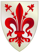 Florence Coat of Arms. Credits: Connormah, WIkipedia