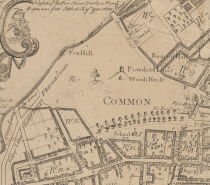 1769 Boston Common Map By William Price, Courtesy of Wiki Commons